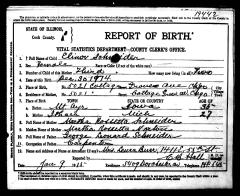 CC image Elinor Schneider Birth Record by AnnieCatBlue on Flickr